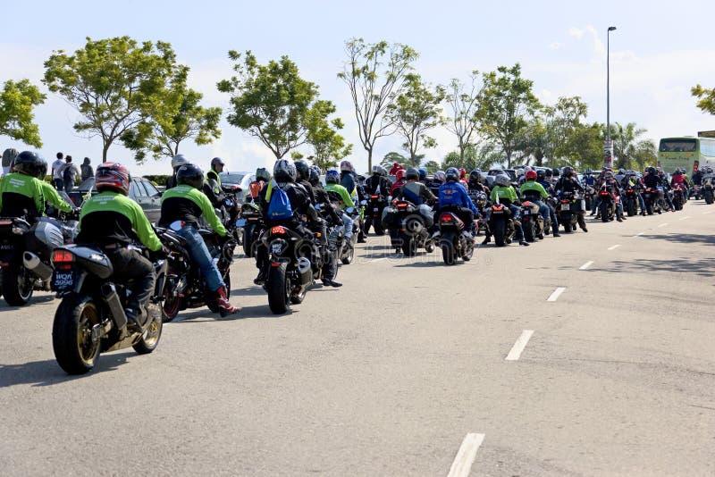 Convoglio del motociclista di Motogp immagini stock libere da diritti