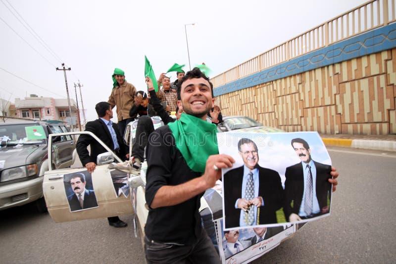Convoglio di campagna elettorale nell'Iraq fotografie stock