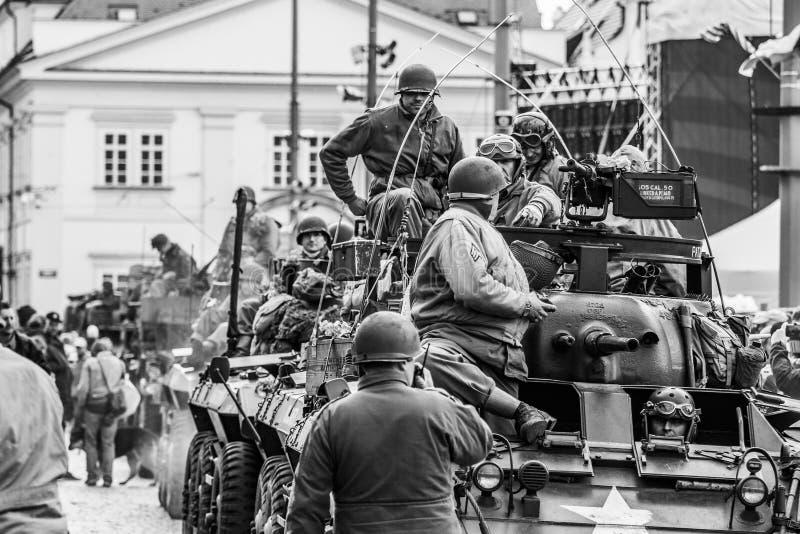 Convoy de libertad en las celebraciones de la libertad fotografía de archivo