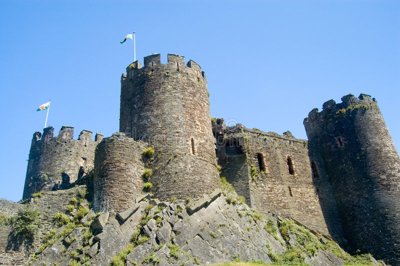 conway的城堡 免版税库存照片