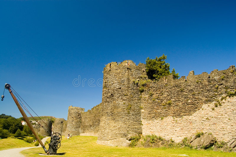 Conway castle royalty free stock images
