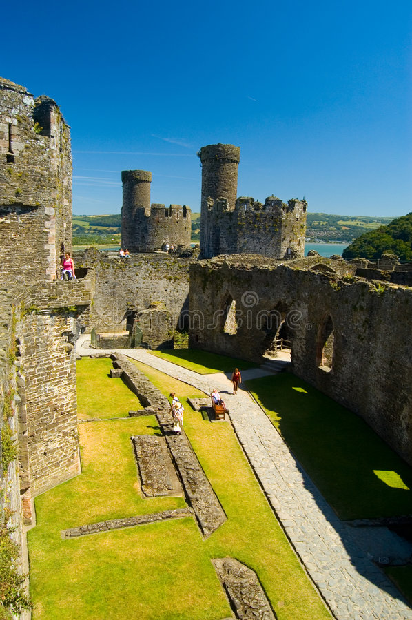 Conway castle royalty free stock photos