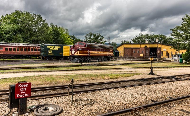 Conway Scenic Railroad, Conway del norte imagenes de archivo