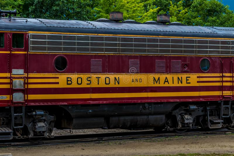 Conway Scenic Railroad, Conway du nord image stock