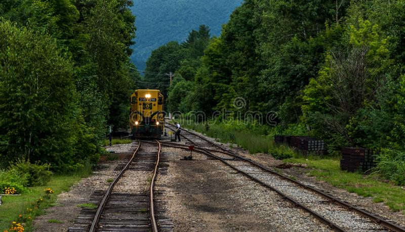 Conway Scenic Railroad, North Conway. The Conway Scenic Railroad is a heritage railway in North Conway, New Hampshire, United States royalty free stock image