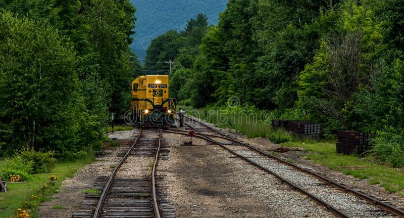 Conway Scenic Railroad, North Conway. The Conway Scenic Railroad is a heritage railway in North Conway, New Hampshire, United States stock image