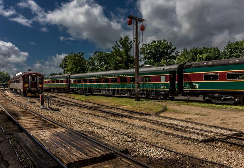 Conway Scenic Railroad, het Noorden Conway stock foto's