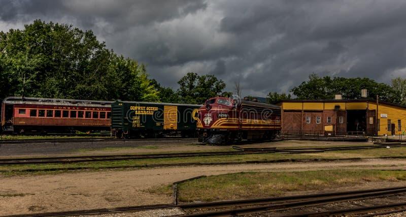 Conway Scenic Railroad, het Noorden Conway stock afbeeldingen