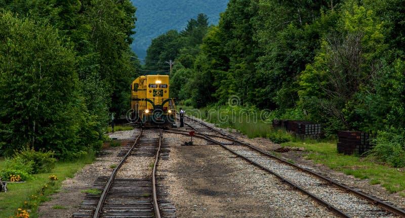 Conway Scenic Railroad, het Noorden Conway stock afbeelding