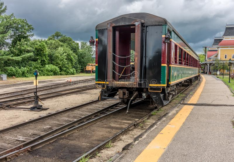 Conway Scenic Railroad, North Conway. The Conway Scenic Railroad is a heritage railway in North Conway, New Hampshire, United States royalty free stock photos