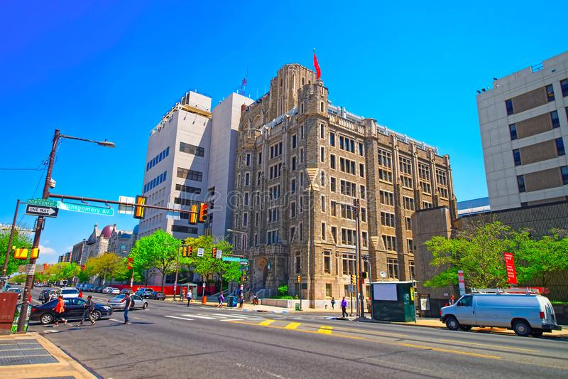 Conwell Hall Temple University na Montgomevy alei Filadelfia obraz royalty free