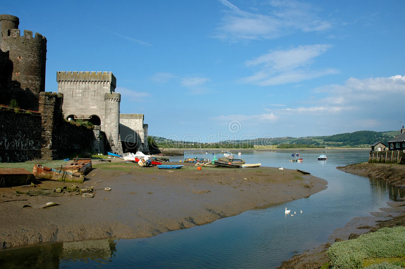 Download Conwy Castle stock photo. Image of gyffyn, castles, travel - 4238314