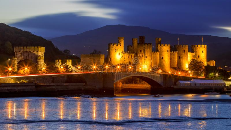 Conwy castle in Wales stock photos
