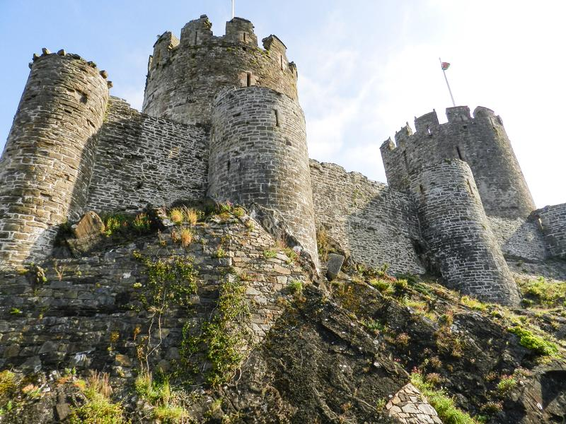 Conwy Castle , Wales royalty free stock images