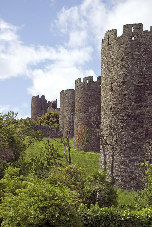 Conwy Town Wall stock photo