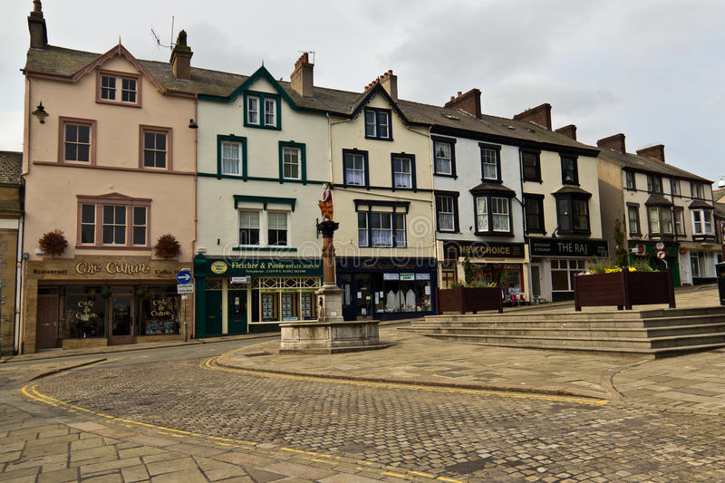 CONWY/WALES - April 20, 2014: Typical street scene in idyllic to stock images