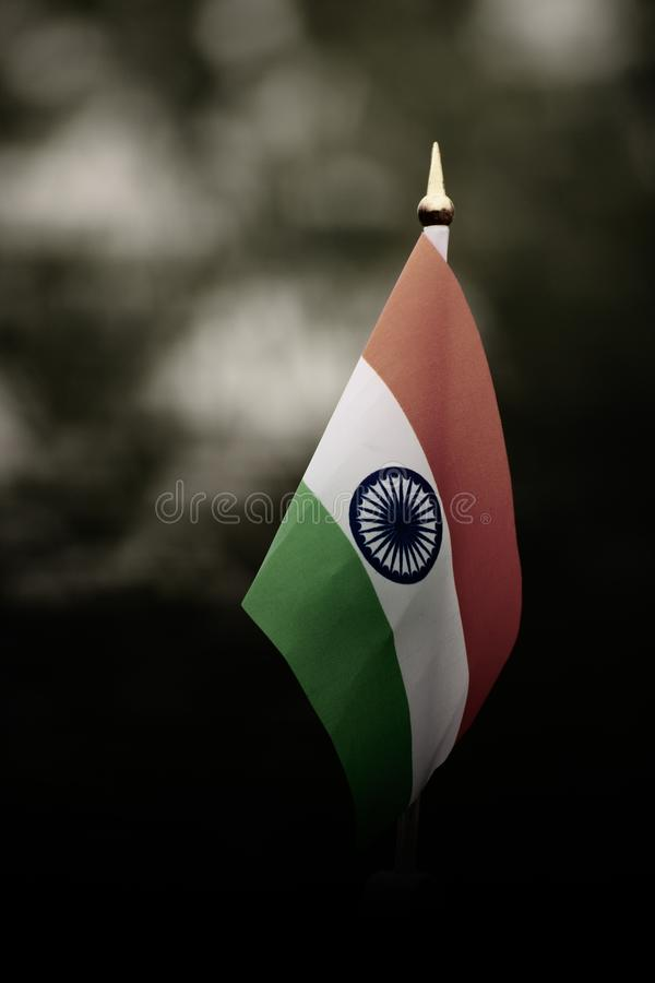 соотечественник флага индийский стоковое фото
