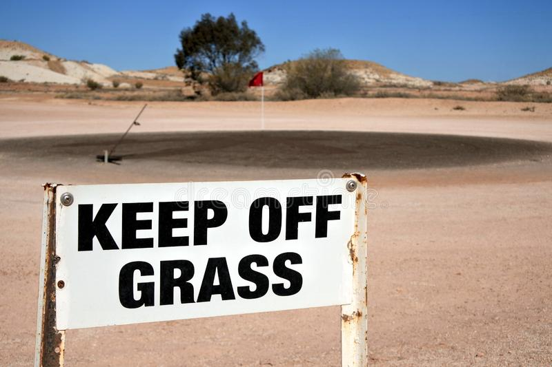 Coober Pedy Opal Fields Golf Course in Süd-Australien lizenzfreies stockbild