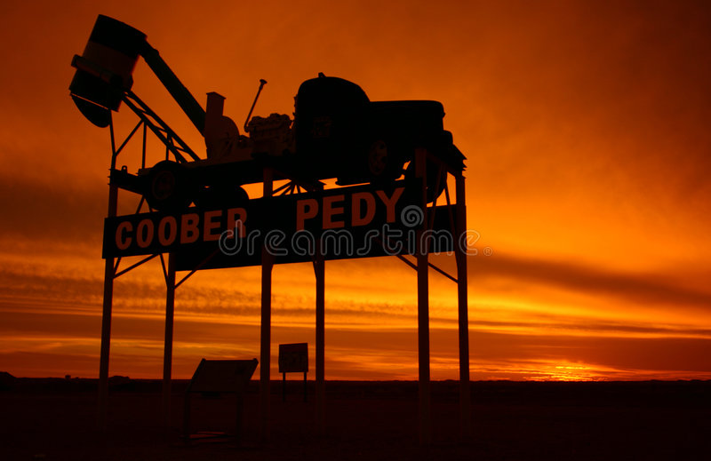 Coober Pedy - place name sign royalty free stock images