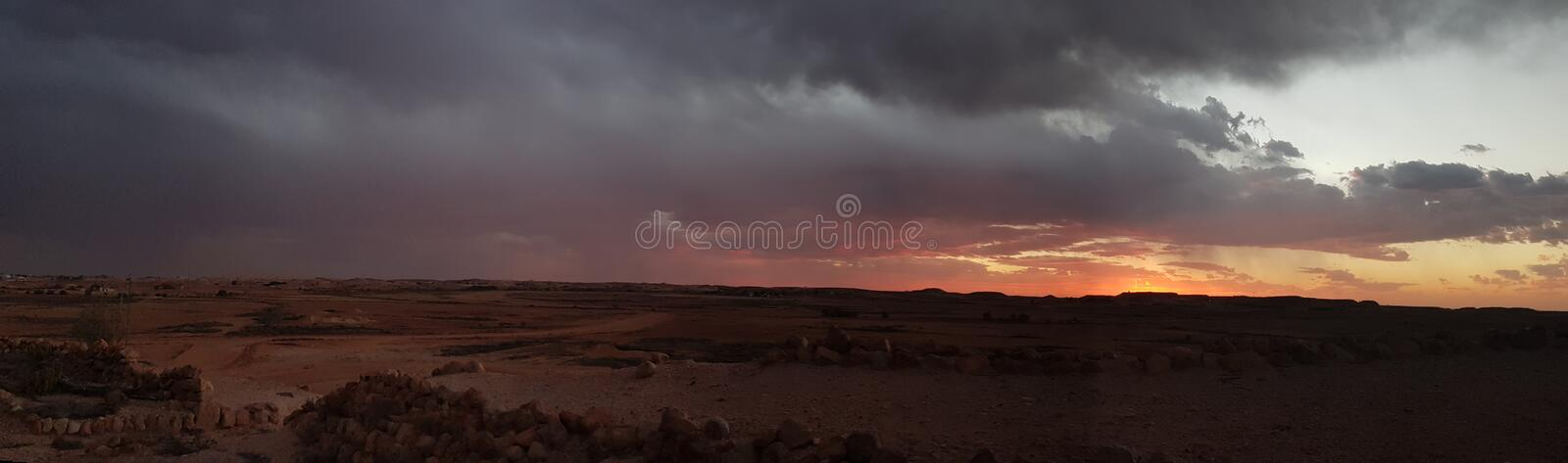 Coober pedy South Australia opal mining town sunset royalty free stock image