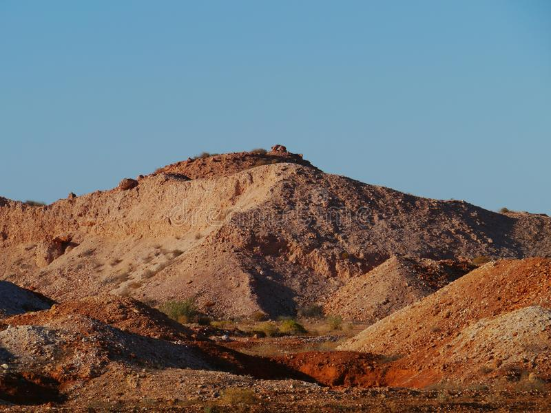 Coober Pedy. Is a town in northern South Australia at the Stuart Highway and is famous for its opal mines royalty free stock image