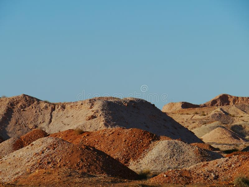 Coober Pedy. Is a town in northern South Australia at the Stuart Highway and is famous for its opal mines stock photography