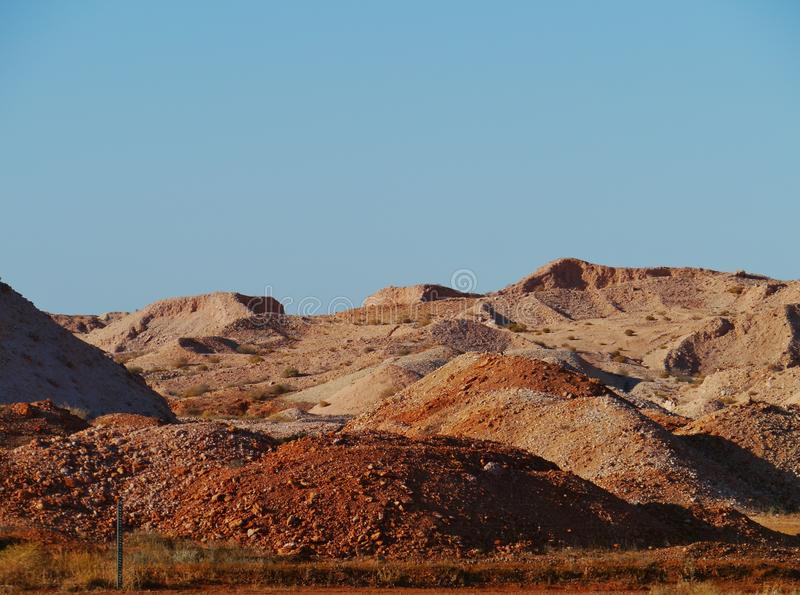 Coober Pedy. Is a town in northern South Australia at the Stuart Highway and is famous for its opal mines stock images