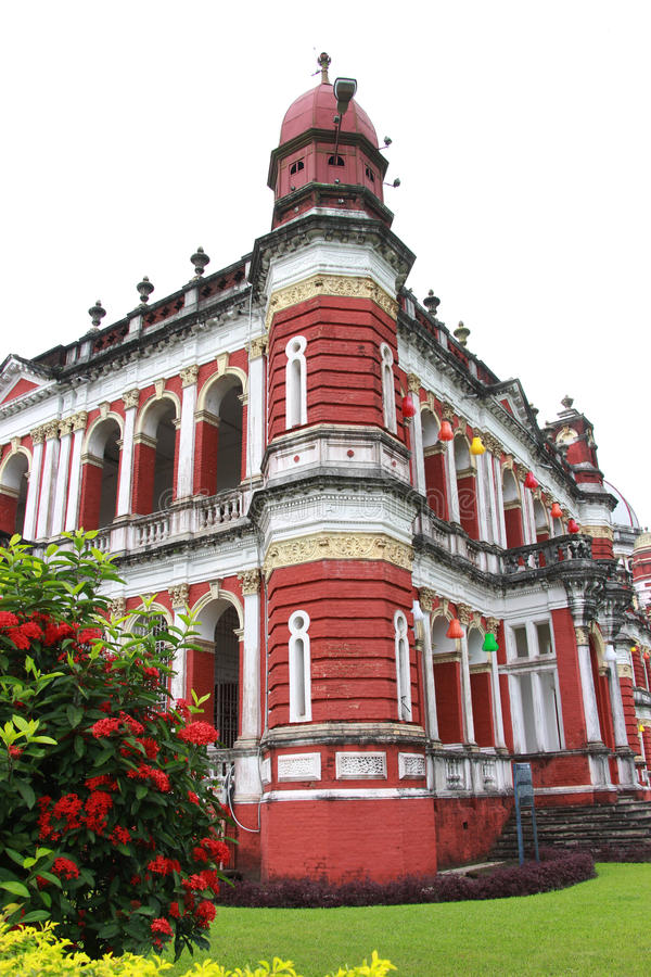 Cooch Behar Palace, ook genoemd Victor Jubilee Palace royalty-vrije stock afbeeldingen