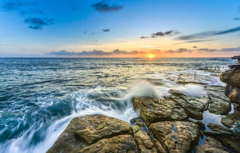 Coogee海滩,悉尼澳大利亚 免版税库存图片