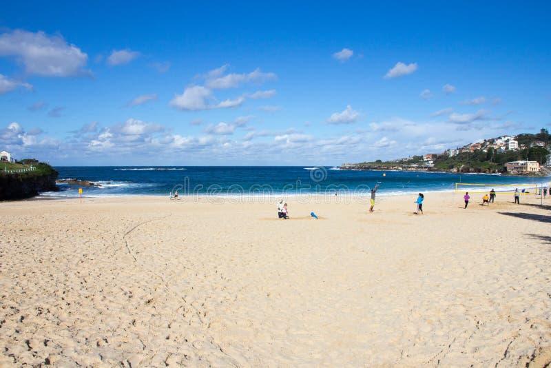 Coogee plaża na słonecznym dniu, Sydney, Australia obrazy stock