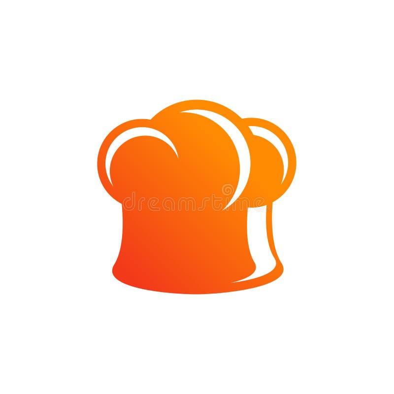 cook' значок вектора шляпы s Шаблон дизайна логотипа шеф-повара иллюстрация штока
