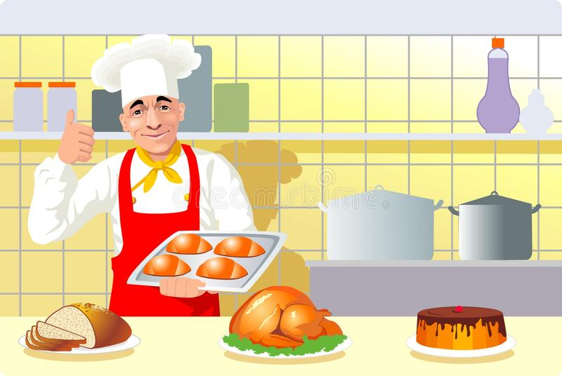 Cook vector illustration