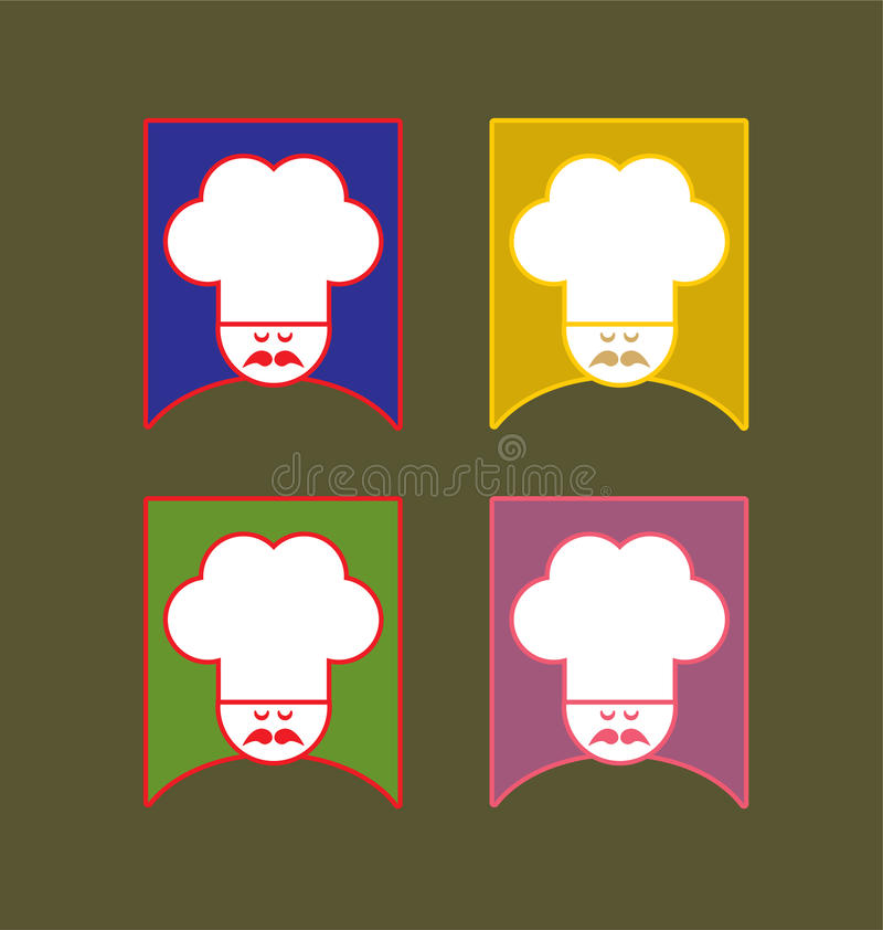 Download The Cook stock vector. Image of restaurant, food, cooking - 16290071