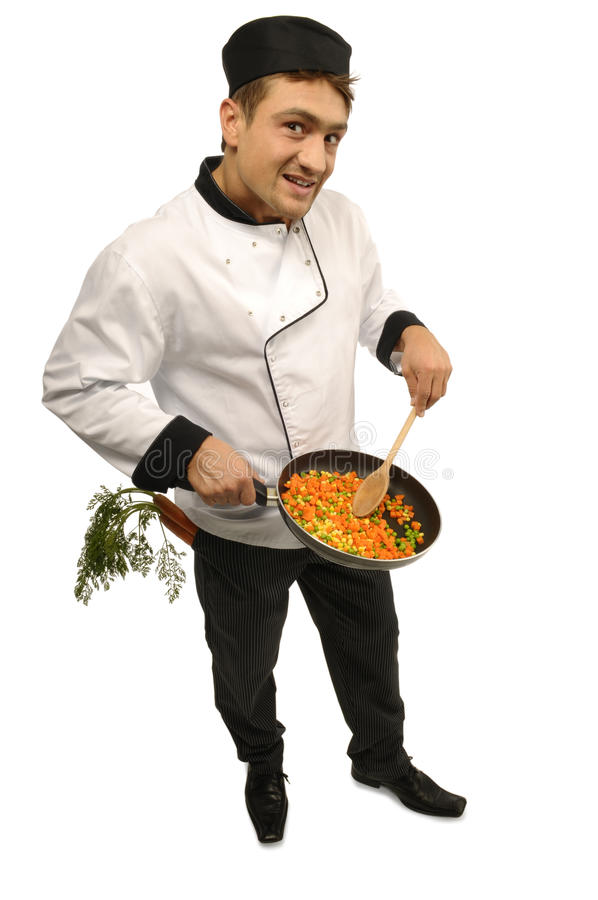 Download Cook stock image. Image of white, background, handsome - 16929083