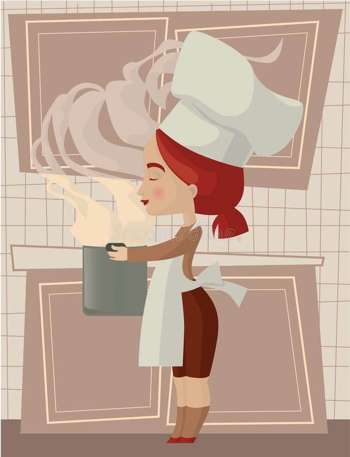 Download Cook ilustracja wektor. Obraz złożonej z kuchenka, kucharz - 25899753