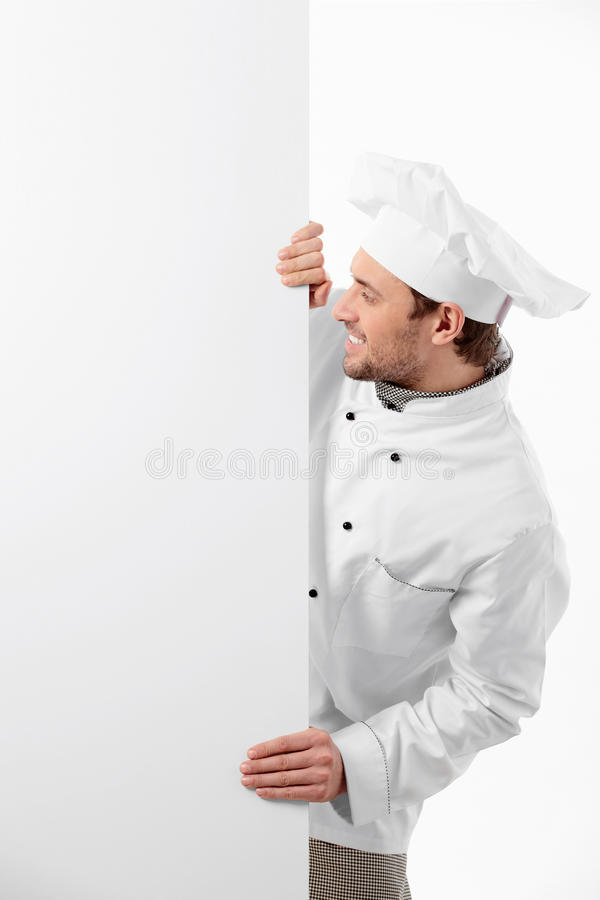 Download Cook with a banner stock image. Image of preparing, person - 18720067