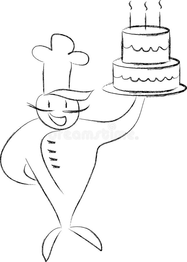 Cook With A Cake Royalty Free Stock Photography