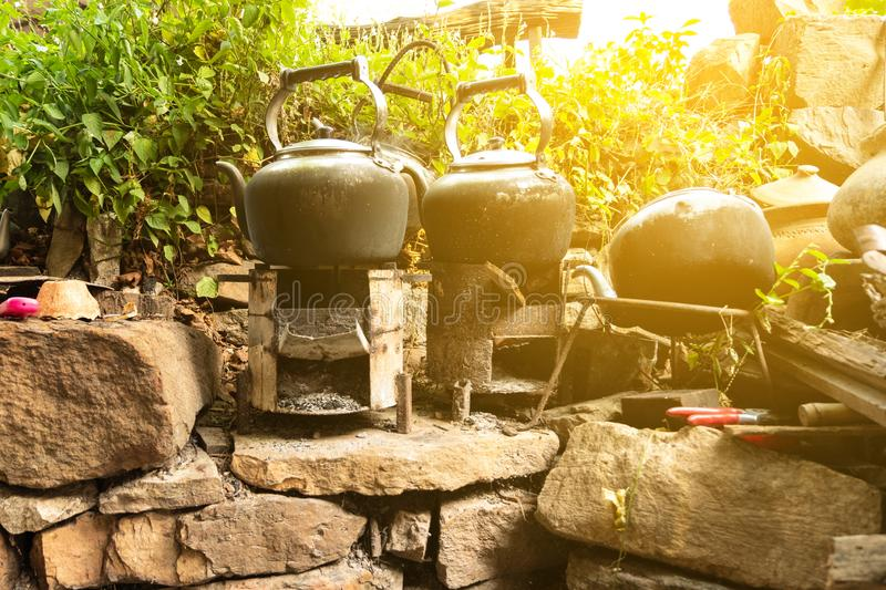 """Typical Thai Earth ware Cooking /""""Kanom Krok/"""" Sweet Charcoal Stove"""