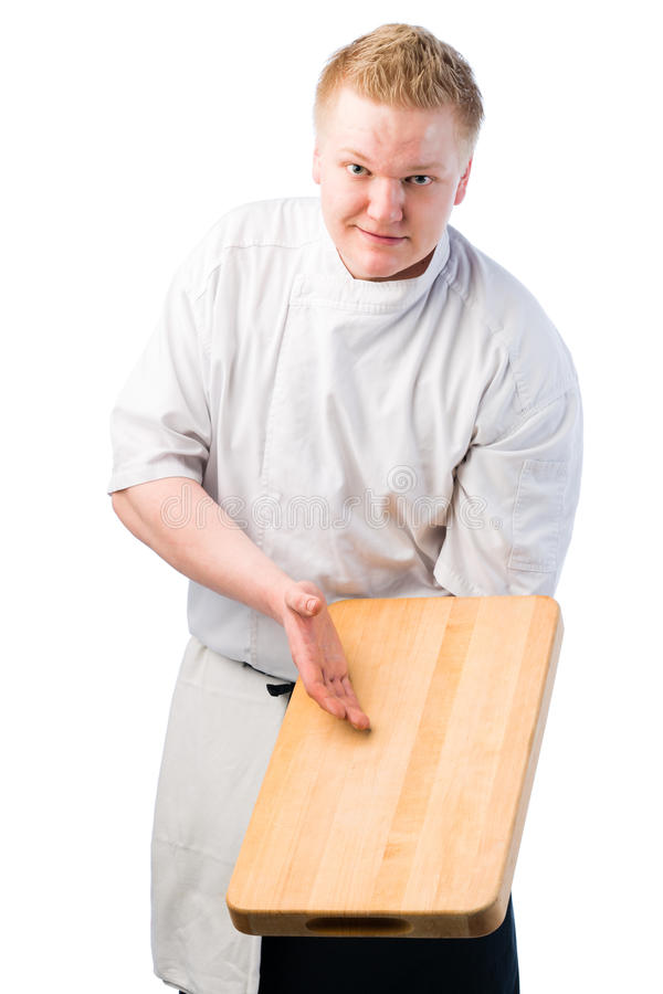Cook Demonstrate Stock Photo