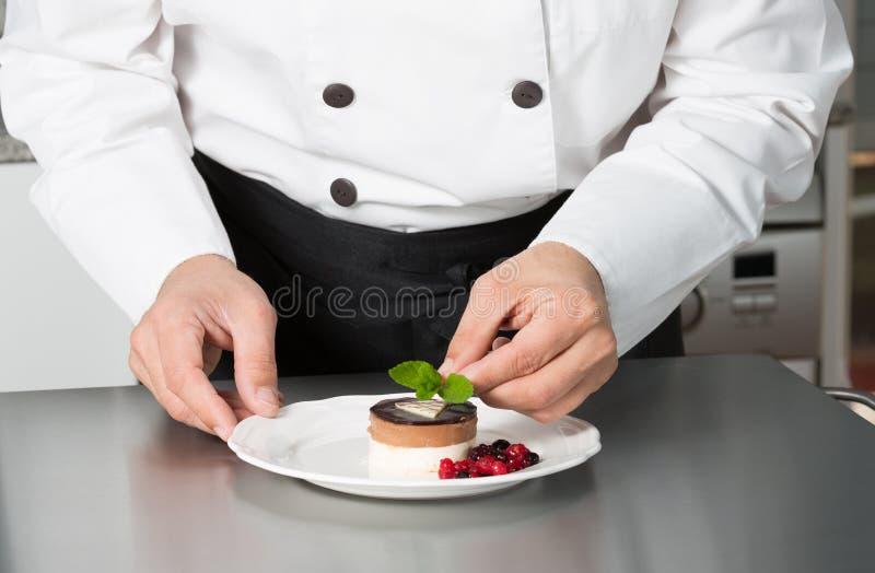 Cook desserts stock image