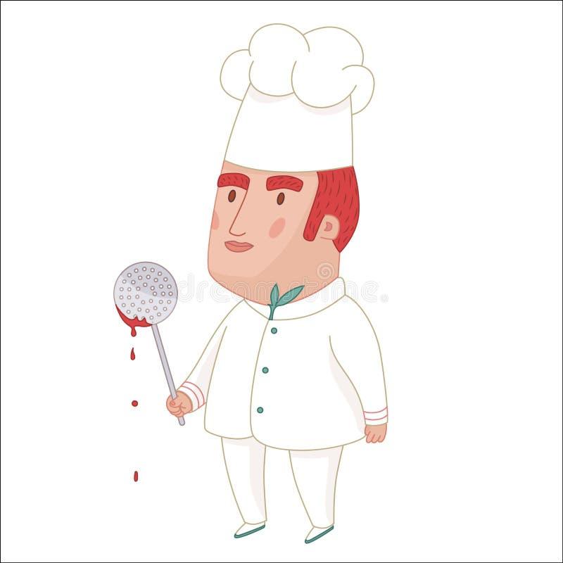 Cook, dod ludzie inkasowi ilustracja wektor