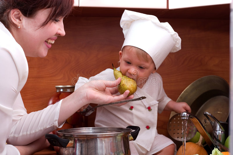Download Cook family stock photo. Image of funny, expressions, little - 1736630
