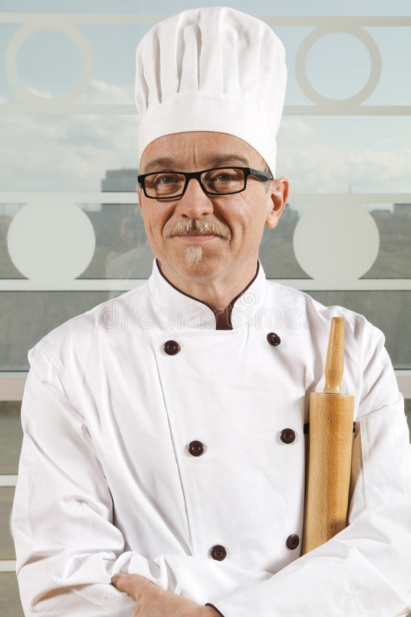 Download Cook with hat stock photo. Image of glasses, expert, meal - 19719210