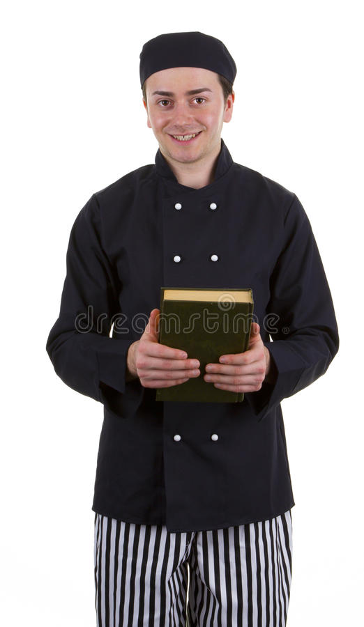 Cook Holding A Book Stock Images
