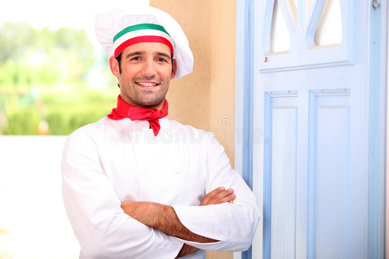 Cook at home royalty free stock photography
