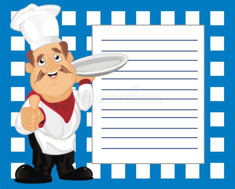 Cook i jego notatki ilustracja wektor