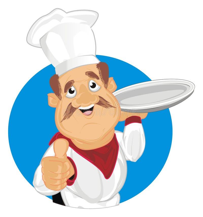 Cook i znak ilustracja wektor