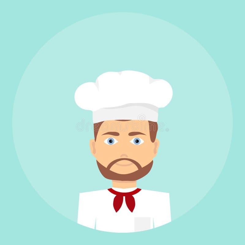Cook, ikona kucharz ilustracja wektor