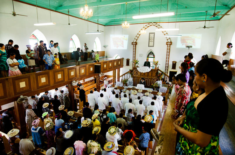 Download Cook Islands People Pray At CICC Church Editorial Photography - Image of gather, interior: 34298377