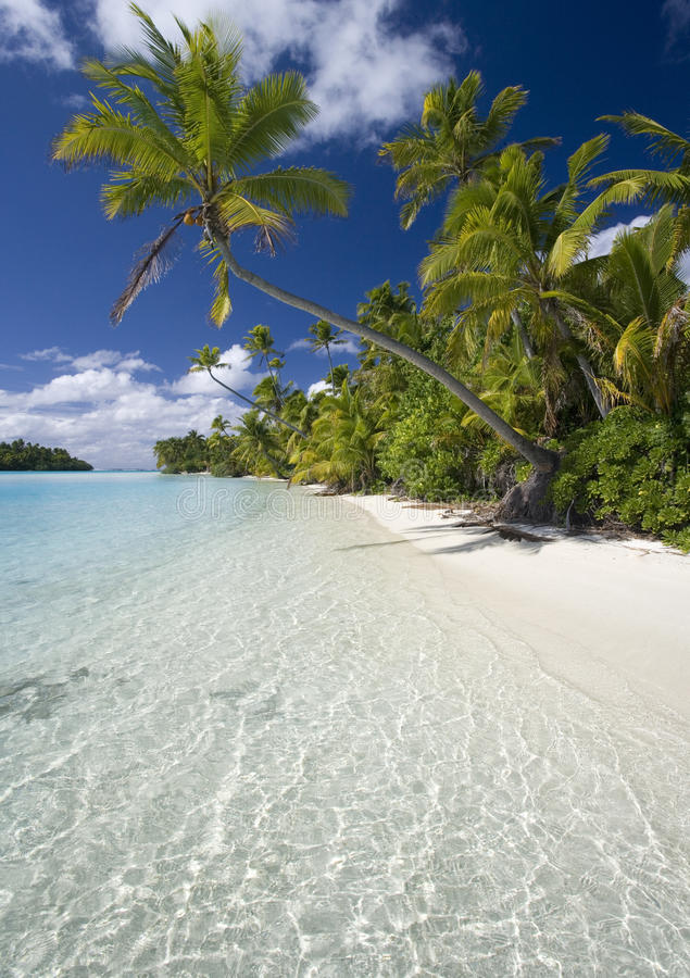 Cook Islands - Tropical Beach Paradise. Aitutaki Lagoon in the Cook Islands in the South Pacific royalty free stock images